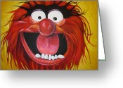 Puppet Greeting Cards - Animal Greeting Card by Steve Hunter