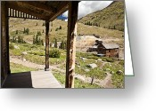 Rural Decay  Digital Art Greeting Cards - Animas Forks Drybrush Greeting Card by Melany Sarafis