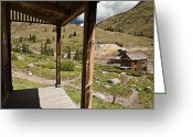 American Landmarks Greeting Cards - Animas Forks Mosiac Greeting Card by Melany Sarafis