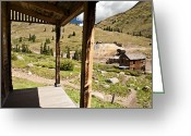Rural Decay  Digital Art Greeting Cards - Animas Forks Palette Greeting Card by Melany Sarafis