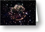 Hubble Greeting Cards - Animation Of A Supernova Explosion Greeting Card by Harvey Richer