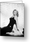 1950s Fashion Photo Greeting Cards - Anita Ekberg (1932- ) Greeting Card by Granger