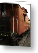 Train Car Greeting Cards - Ann Arbor Caboose Greeting Card by Scott Hovind