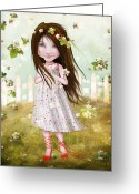 Jessica Grundy Greeting Cards - Annalise Lane Greeting Card by Jessica Grundy