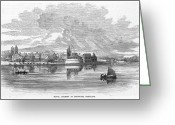 1855 Greeting Cards - Annapolis Naval Academy Greeting Card by Granger