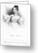 1833 Greeting Cards - Anne Isabella Byron Greeting Card by Granger