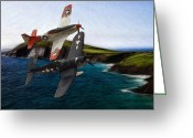 Jet Pastels Greeting Cards - Anno 1944 Greeting Card by Stefan Kuhn