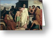 1842 Greeting Cards - Annointing of David by Saul Greeting Card by Felix-Joseph Barrias