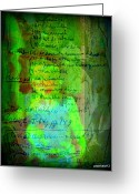 Essential Digital Art Greeting Cards - Annotations For A Life Greeting Card by Paulo Zerbato