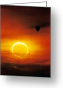 Solar Eclipse Greeting Cards - Annular Solar Eclipse Greeting Card by Detlev Van Ravenswaay