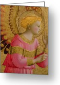 Leaf Painting Greeting Cards - Annunciatory Angel Greeting Card by Fra Angelico