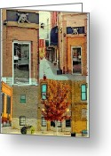 Window Art Digital Art Greeting Cards - Anoka Minnesota Halloween Capital Greeting Card by Susan Stone