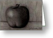 Baby Room Drawings Greeting Cards - Another Apple Greeting Card by Shannon Redmon