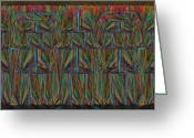Horizontal Lines Digital Art Greeting Cards - Another Brick In The Wall 2 Greeting Card by Tim Allen