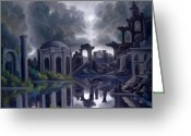 Dismal Greeting Cards - Another City in Ruins Greeting Card by James Christopher Hill