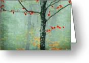 New England Autumn Greeting Cards - Another Day Another Fairytale Greeting Card by Katya Horner