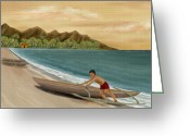 South Seas Greeting Cards - Another Day Greeting Card by Gordon Beck