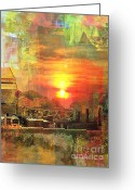 Yesayah Mixed Media Greeting Cards - Another Day in Poverty Greeting Card by Fania Simon