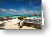 Tropical Island Greeting Cards - Another Day. Maldives Greeting Card by Jenny Rainbow