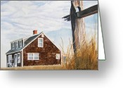 House Greeting Cards - Another New England Sunrise Greeting Card by Dominic White