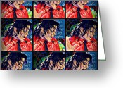 Michael Jackson Greeting Cards - Another Part of Me Greeting Card by Jan Steadman-Jackson