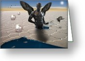 Game Digital Art Greeting Cards - Another Side Of Dream Greeting Card by Mark Ashkenazi