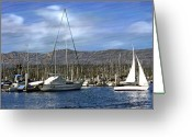 Santa Barbara Digital Art Greeting Cards - Another sunny day Greeting Card by Kurt Van Wagner