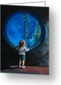 Young Pastels Greeting Cards - Another world Greeting Card by Bob Northway