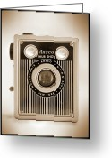 White Digital Art Greeting Cards - Ansco Shur Shot Greeting Card by Mike McGlothlen