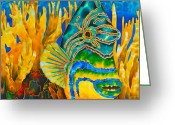 Caribbean Sea Tapestries - Textiles Greeting Cards - Anse Chastanet Greeting Card by Daniel Jean-Baptiste