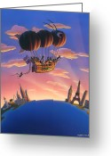 Characters Greeting Cards - Ant Airship  Greeting Card by Robin Moline
