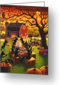 Fall Scene Greeting Cards - Ant Party Greeting Card by Robin Moline