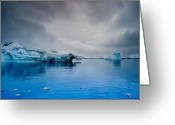 Glacier Greeting Cards - Antarctic Iceberg Greeting Card by Michael Leggero
