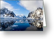 Office Art Greeting Cards - Antarctica - Morning after Storm Greeting Card by Jane Sheng
