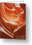 Natural Formation Greeting Cards - Antelope Canyon - So much brilliance Greeting Card by Christine Till