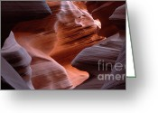 Inner Peace Greeting Cards - Antelope Canyon Inner Peace Greeting Card by Bob Christopher