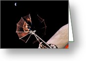 Antenna Greeting Cards - Antenna Of Lrv Pointing To Earth Greeting Card by NASA / Science Source