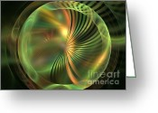 Palm Leaf Digital Art Greeting Cards - Antheia Greeting Card by Kim Sy Ok
