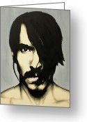 Portraits Greeting Cards - Anthony Kiedis Greeting Card by Antony Bagley