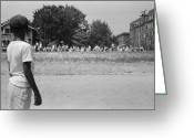 Civil Rights Greeting Cards - Anti-integration Rally, 1959 Greeting Card by Granger