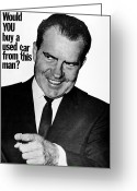 Nixon Greeting Cards - Anti-nixon Poster, 1960 Greeting Card by Granger