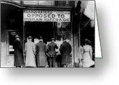 Elections Greeting Cards - Anti Suffrage Headquarters Greeting Card by Padre Art