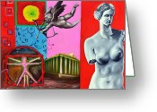 Eros Statue Greeting Cards - Antic Greeting Card by Dica Adrian