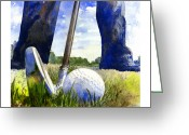 Golf Club Greeting Cards - Anticipation Greeting Card by Andrew King