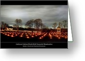 Candles Greeting Cards - Antietam Panorama Greeting Card by Judi Quelland