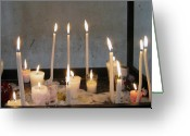 Churches Photo Greeting Cards - Antigua Church Candles Greeting Card by Kurt Van Wagner