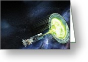 21st Century Art Greeting Cards - Antimatter Spaceship Greeting Card by Henning Dalhoff
