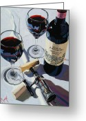 Trumpet Glass Greeting Cards - Antinori Evening Greeting Card by Christopher Mize
