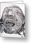Otto Rapp Drawings Greeting Cards - Antipods Screamer Greeting Card by Otto Rapp