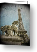 Paris Greeting Cards - Antiquation Greeting Card by Andrew Paranavitana